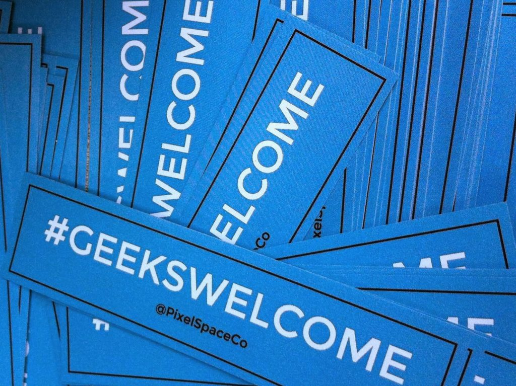 Geeks Welcome Stickers